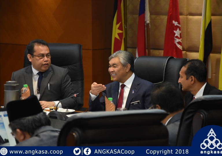 Kunjungan Kepimpinan Tertinggi ANGKASA ke pejabat TPM