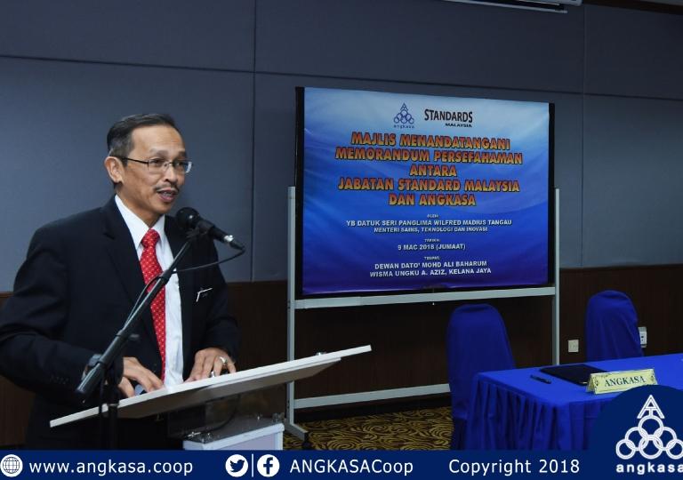 Majlis Menandatagani MoU antara Jabatan Standard Malaysia dengan ANGKASA