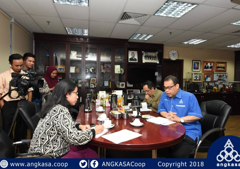 Wawancara NST bersama Presiden ANGKASA mengenai koperasi sekolah